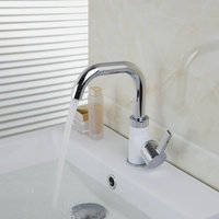 Kitchen Faucets Torneira 2015 New Brand Chrome Swivel 360 Single Handle 97057 Deck Mounted Basin Sink