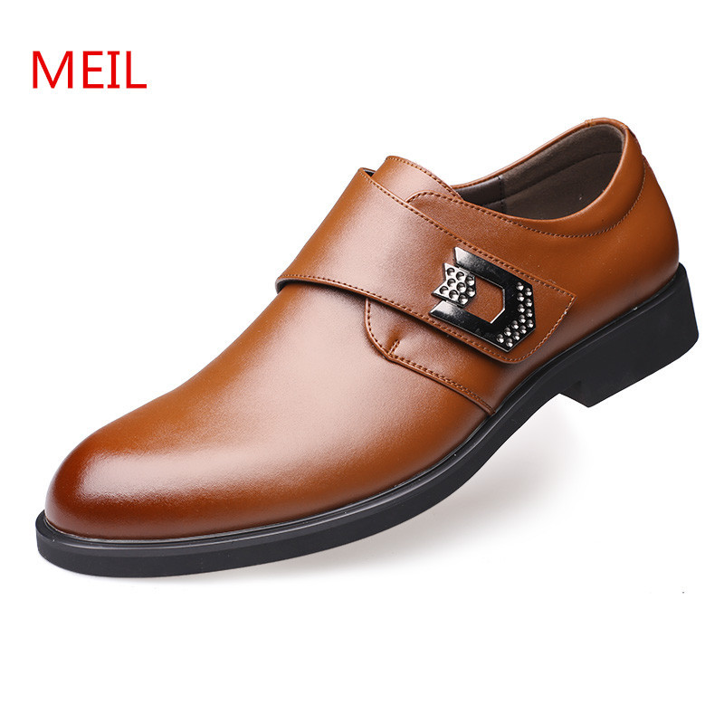 MEIL  New Mens Business Dress Shoes Designer Genuine Leather Flats Casual Oxford Shoe For Men Fashion Wedding Shoes pacento new brand leather men shoes fashion genuine leather business casual mens shoe flats large size 12 5 13 5 chaussure homme