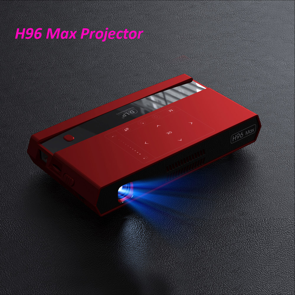 H96 Max Mini DLP 4 k proyector Octa Core Android portátil Video teatro Bluetooth HD-IN 5G WIFI TV Box 2GB 16GB DHL
