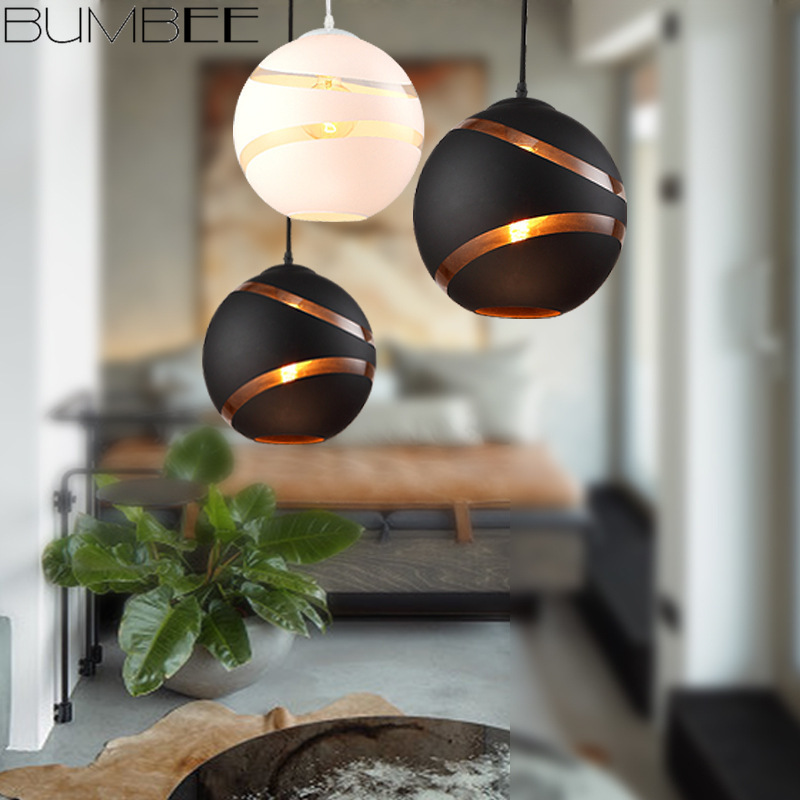 Postmodern Living Room Spherical Chandelier Restaurant Cafe Glass Hanglamp Creative Nordic Children's Room Lustres Pendentes