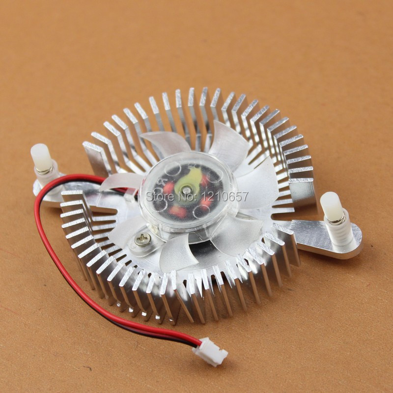1PCS Computer 12V 2Pin 80MM Silver VGA Graphics VGA Card Cooling Fan Heatsink personal computer graphics cards fan cooler replacements fit for pc graphics cards cooling fan 12v 0 1a graphic fan