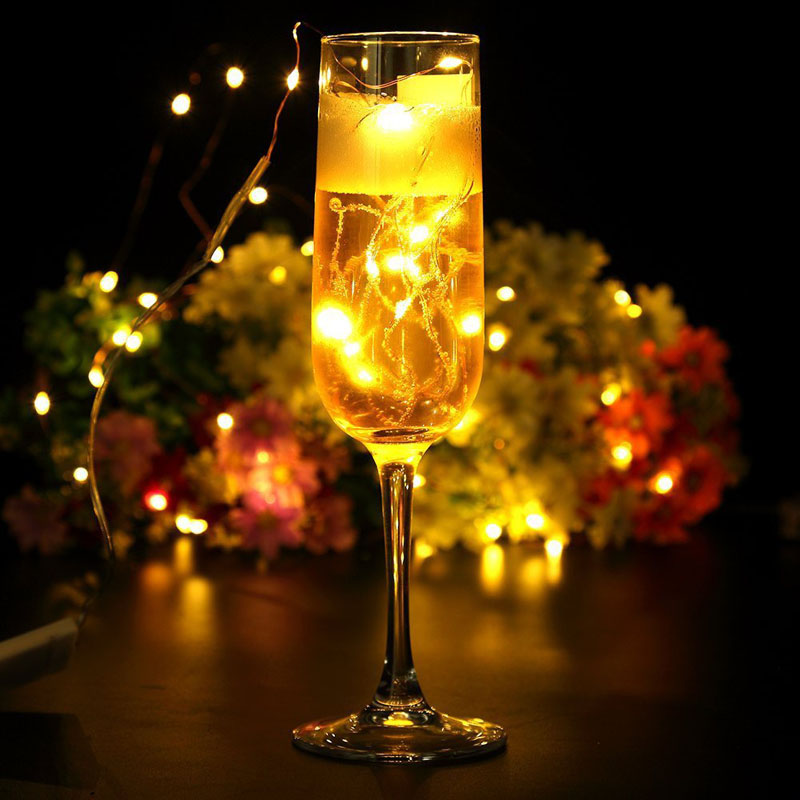 Party decoration micro led seed vine vase lights wedding