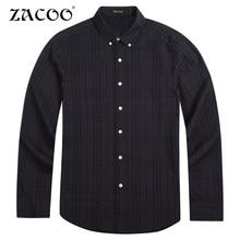 ZACOO Brand Clothing New casual shirt men brand male casual shirt top quality cotton long sleeve autumn spring men shirts 4XL