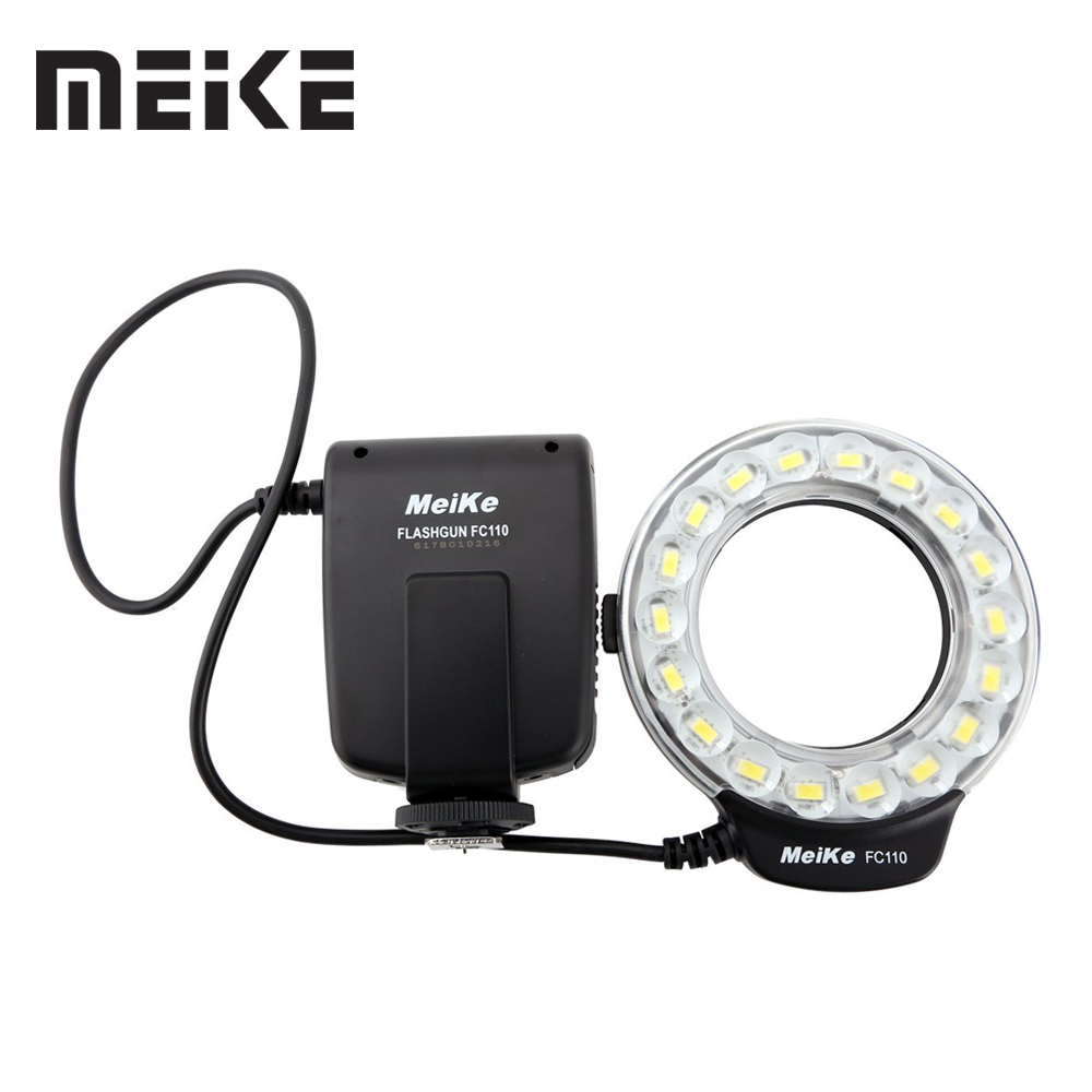 Meike FC-110 LED Macro Ring Flash Light For Canon EOS 5D Mark II III 6D 7D 50D 60D 70D 450D 550D 600D 650d 700D 1000D 1100D сумка для видеокамеры cst 2015 canon dslr eos 1000d 1100d 600d 550d 60d 450d 40d 7d 5d rebel t2i t3i 4 t5i 250068