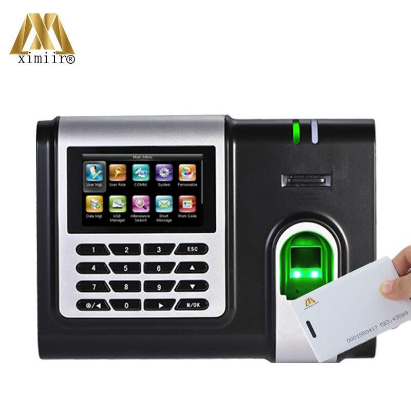 125KHz Card And Fingerprint Sensor Time Attendance Machine TCP/IP Support Multi Language X628-C Fingerprint Time Clock