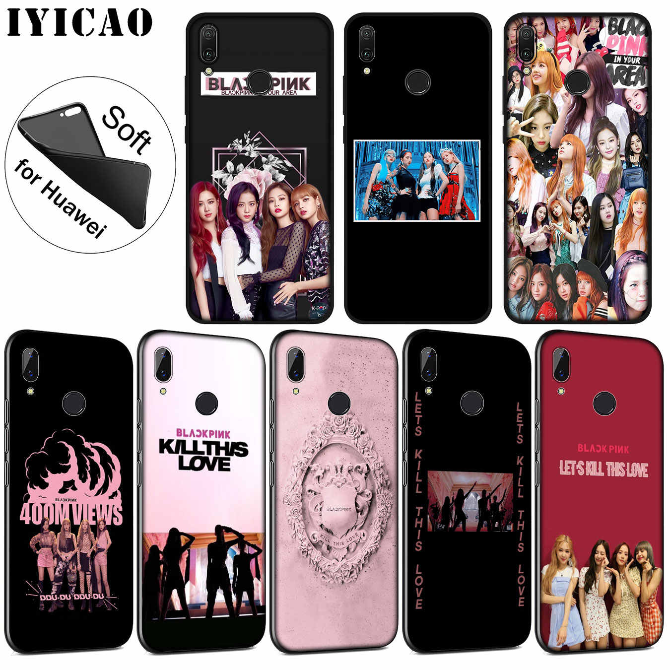 IYICAO blackpink kill this love Soft Silicone Case for Huawei P30 P20 Pro P10 P9 P8 Lite Mini 2017 2016 P smart Z 2019 Cover