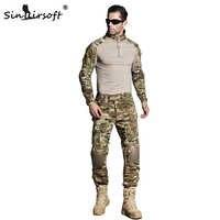 SINAIRSOFT tactique G3 BDU Camouflage uniforme de Combat Airsoft chemise pantalon avec genouillères militaire Multicam chasse Camo vêtements