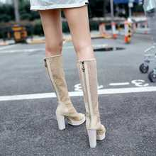 2015 New Women's Peep Toe High Heels Cut-Outs Boots Fashion Ladies Summer Mesh Boots Female Knee High Boots Sandals H4203