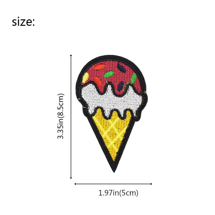 Diy ice cream patches for clothing iron embroidered patch applique diy ice cream patches for clothing iron embroidered patch applique iron on patches sewing accessories badge stickers on bag 017 in patches from home biocorpaavc