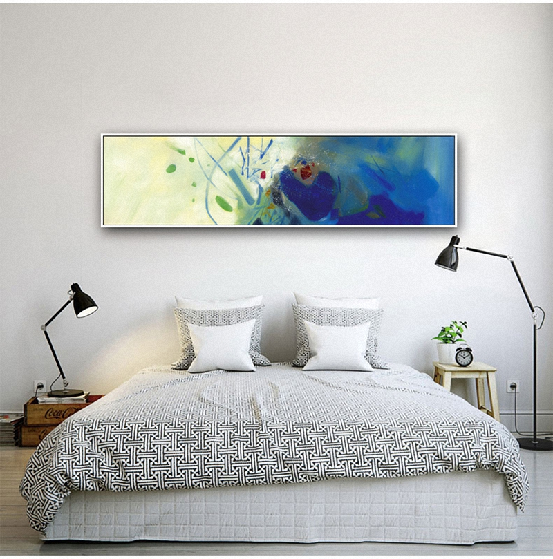 HAOCHU-Blue-White-Psychedelic-Abstract-Shading-Watercolor-Blush-Oil-Canvas-Painting-Colorful-Pictures-Wall-Poster-Home (4)