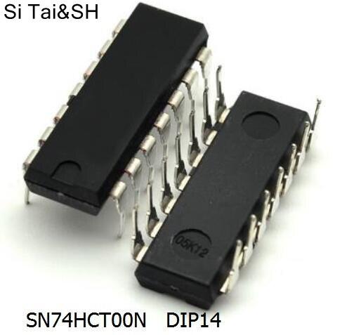 Free shipping 10pcs/lot SN74HCT00N 74HCT00 DIP new original