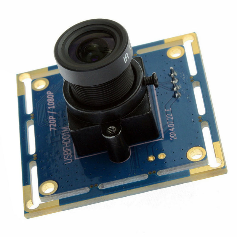 ELP 6mm lens Industrial camera 1080p  Black White monochrome mini cmos board usb camera module Android HD , free shipping цена