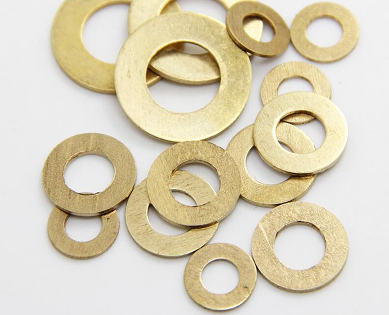 100Pcs DIN125 ISO7089 M2 M2.5 M3 M4 M5 M6 M8 M10 M12 Meson Pad Sheet Metal Collar Brass Flat Washer100Pcs DIN125 ISO7089 M2 M2.5 M3 M4 M5 M6 M8 M10 M12 Meson Pad Sheet Metal Collar Brass Flat Washer