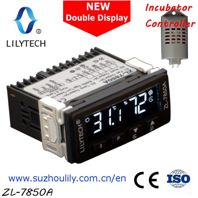 ZL-7850A,100-240Vac, Dual-display, Multifunctional Automatic Incubator Controller, Temperature Humidity incubator, Lilytech