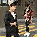 Толстовка с капюшоном для мальчиков  детская двухсторонняя парка  Весенняя камуфляжная куртка для мальчиков-подростков  Детская куртка  од...