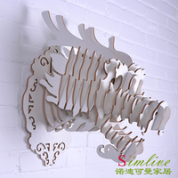 Nodic DIY деревянная голова дракона для украшения стены, декоративные предметы, декоративные, китайский дракон статуя, традиционные украшения