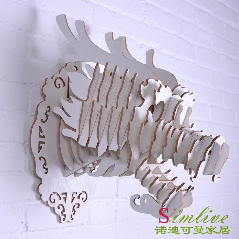 Tête de Dragon en bois bricolage NODIC pour décoration murale, objets décoratifs, décoratifs, statue de dragon chinois, décorations traditionnelles