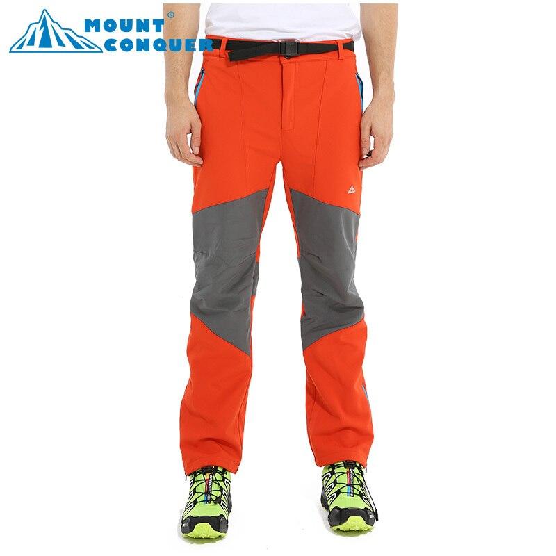 Softshell Pants Men Breathable Thermal Waterproof Pants lovers Outdoor Sport Camping Hiking Pants Fleece Outdoor Pants