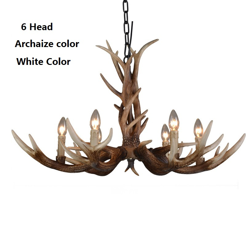 6head nordic american country antler chandelier retro resin deer 6head nordic american country antler chandelier retro resin deer horn chandelier lighting palace restaurant lustres light modern in chandeliers from lights mozeypictures Images