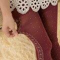 Mulheres Nova Moda de Veludo de Nylon Calças Justas Outono Inverno Flor Rosa Impresso Meia-calça Menina Kawaii Harajuku Meias Baratos Por Atacado