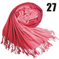 2014 otoño y el invierno femenina decoración del bloque del color de la borla de la bufanda grande del cabo del faux de gradiente ultra largo de la bufanda