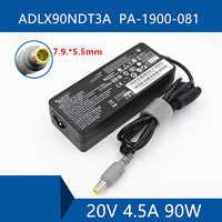 Câble de Port de connecteur de chargeur de cc d'adaptateur à ca d'ordinateur portable pour Lenovo ADLX90NDT3A PA-1900-081 20 V 4.5A 90 W