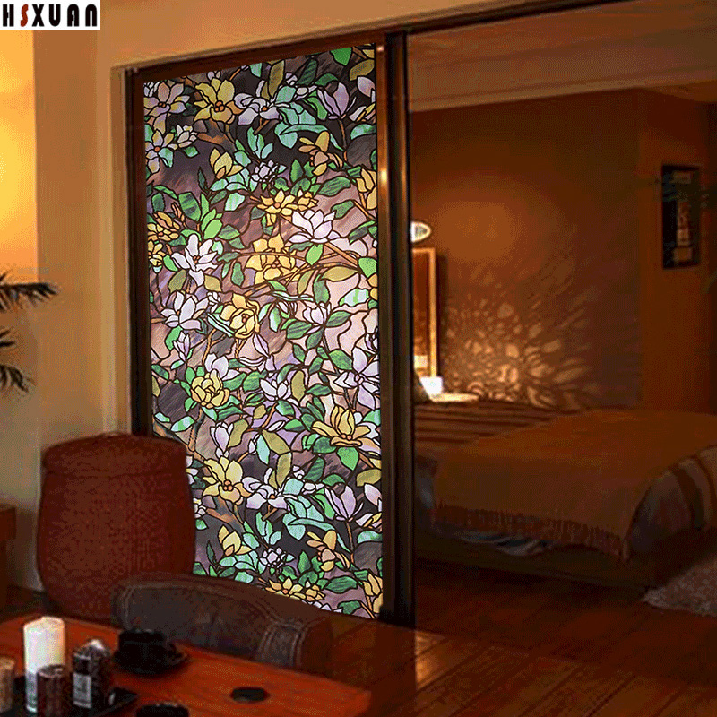 Decal Decorative Window Film Sunscreen 80X100cm Pvc Self Adhesive 3d Flower Tint  Sliding Door Window Sticker Hsxuan Brand 803102 In Hair Clips U0026 Pins From  ...