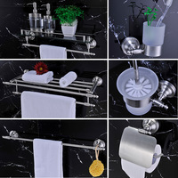 304 Stainless Steel Bathroom Accessories Set Towel Bar Wall Hook Toiley Accessory Toilet Brush Holder Roll Holder,Brushed Nickel