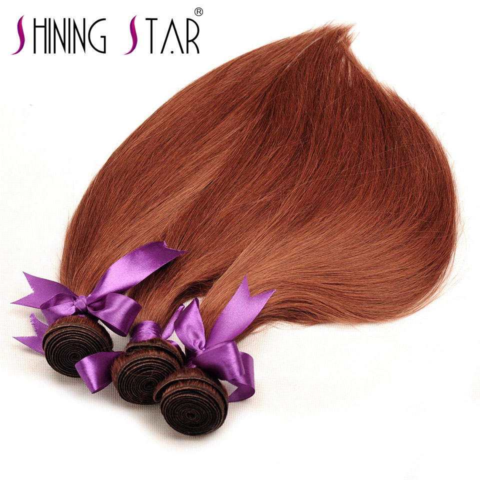 33 Color Peruvian Straight Weave Human Hair Bundles 10-26 1Pc Shining Star Non-Remy Weft Hair Extension Can Be Restyle