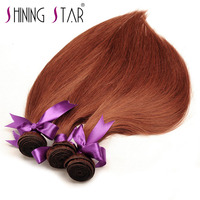 Shining Star Straight Peruvian Hair Bundles 100 Human Hair Weave Pure 33 Color 10 26