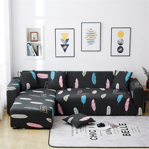 Image 4 - Parkshin Feather Slipcover Stretch Sofa Covers Furniture Protector Polyester Loveseat Couch Cover Sofa Towel 1/2/3/4 seater