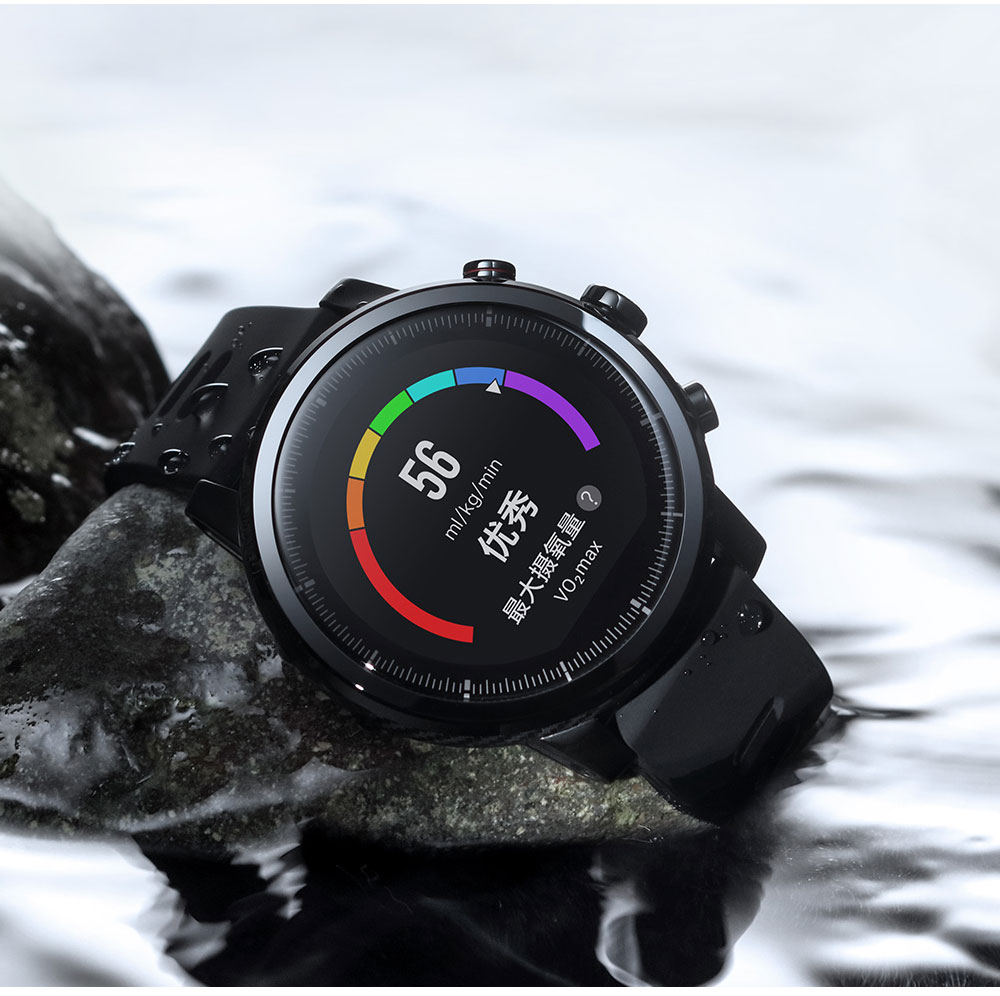 English Version Xiaomi Huami Amazfit Smart Watch Stratos 2 GPS PPG Heart Rate Monitor 5ATM Waterproof Sports Smartwatch Firstbeat VO2max (6)