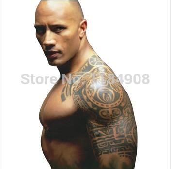 Dočasné tetování velká polovina ramena paže falešné transfer tetování samolepky horké sexy muži sprej vodotěsné vzory
