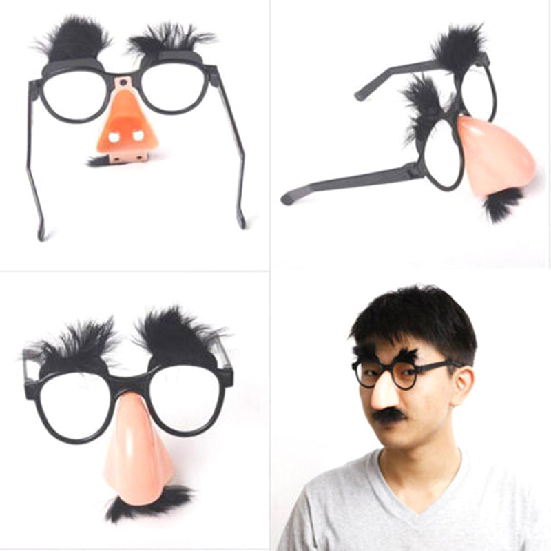 Novelty Toy Big Nose Funny Glasses Toys Party Bar Funny Gags Jokes Accessory Prop Halloween Tricky Decor Kids Festival Gift