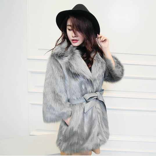 Пальто для девочек; manteau femme hiver зимнее пальто Для женщин 2019 новый корейский из искусственного лисьего меха пальто; женская верхняя одежда Сельма норковый шарф женский Куртка из искусственного меха FW131
