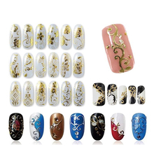 Metallic Gold/Silver Nail Art Decoration Water Stickers