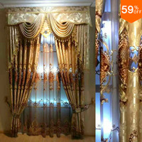 Polis Brand drape extreme Luxury velvet Embroidery Baroco hollow out Baroco style hierarch drapery new design widnow living room