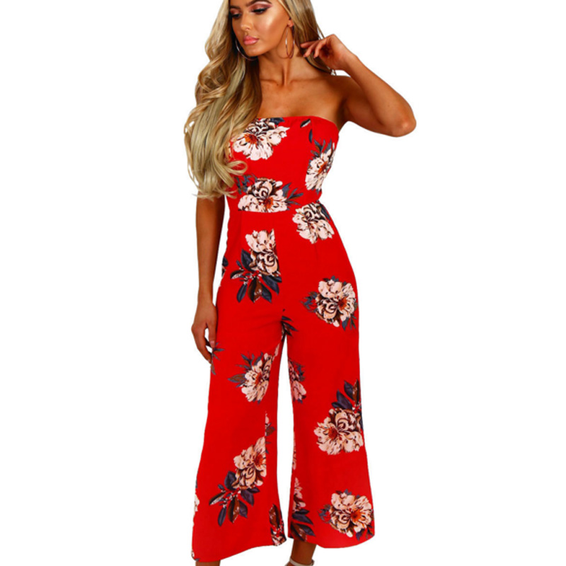 Popular Red Wide Leg Jumpsuit for Women-Buy Cheap Red Wide Leg ...