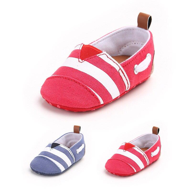 Infant Baby Shoes New 2017 Soft Bottom Cotton Striped Baby Moccasins For Girls Boy Newborns Toddler Footwear Bota Infantil BS019
