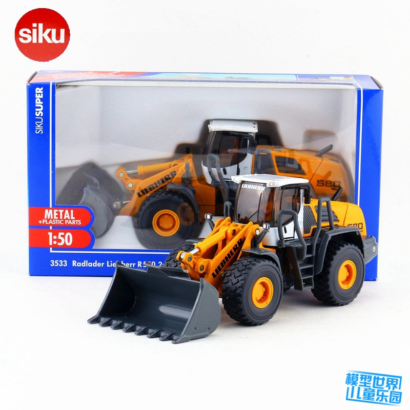 SIKU 3533/1:50 Scale/Diecast Metal Model/Liebherr L580 2plus2 Bulldozer/Educational Toy for children's gift or collection siku die cast metal model simulation toy 1 32 scale ropa beet harvester educational car for children s gift or collection big