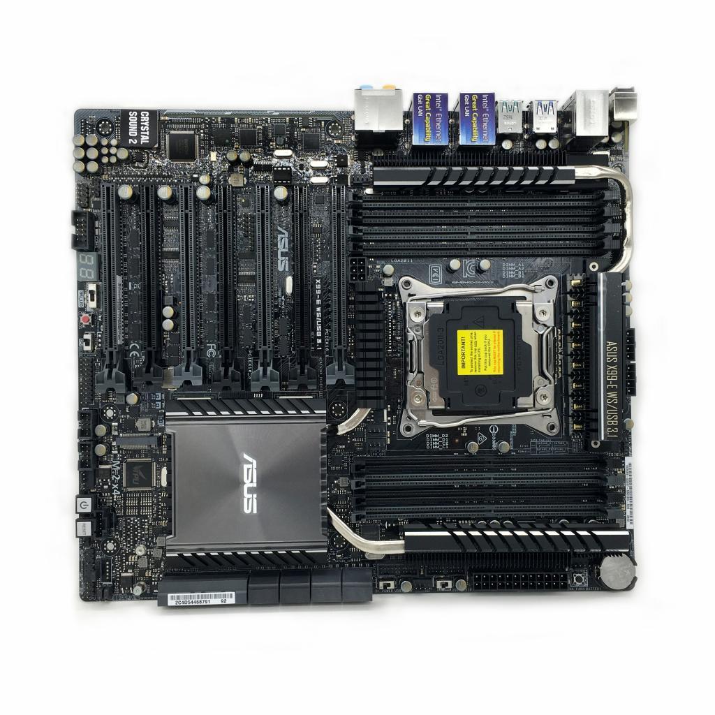 Asus X99-E WS/USB 3.1 poste de travail unique carte mère 2011pin 4way SLI utilisé 90% nouveau