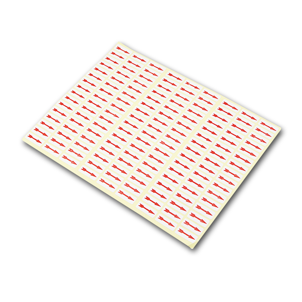 Оптовая продажа DHL площадь самоклеющиеся красного цвета стрелки этикетки для завода QC неполные неисправностей ошибку маркировки Бумага Ст