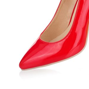 Image 4 - ALLBITEFO plus size:33 44 pu leather pointed toe women high heel shoes fashion high heels office ladies spring women shoes