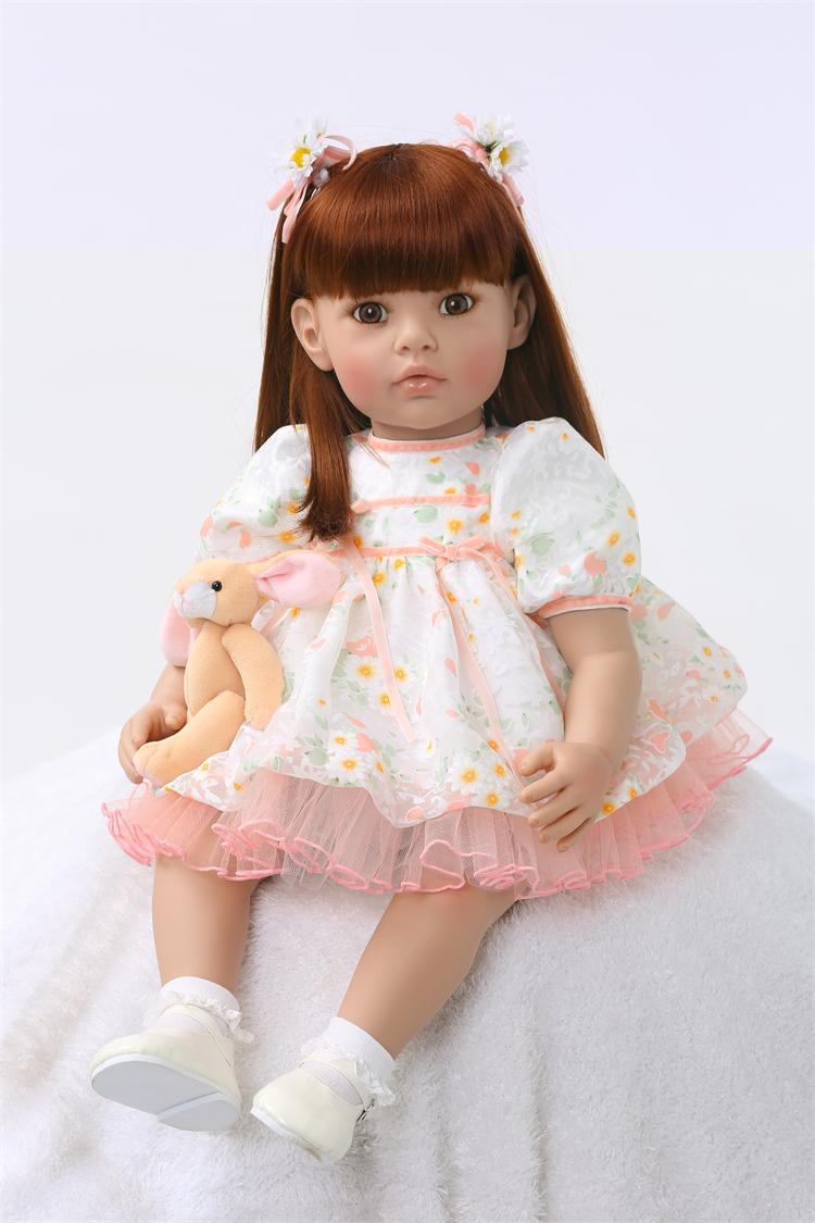 Silicone Reborn Baby Doll Toys Princess Toddler Babies Dolls Birthday Present Gift Girls