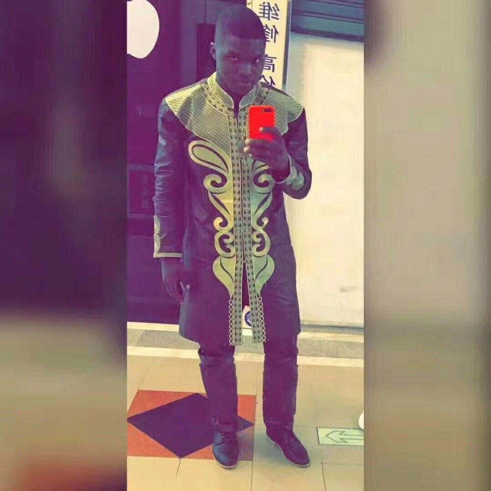 H&D 2018 Dashiki Men outfit african clothing mens african clothing bazin clothes riche embroidery african men top pant suits set
