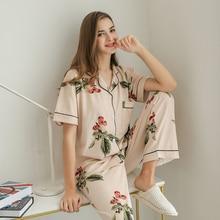 Algodão pijamas moda feminina conjunto para feminino plus size pijamas flor impressão sleepwear kit manga curta nightwear L 4XL