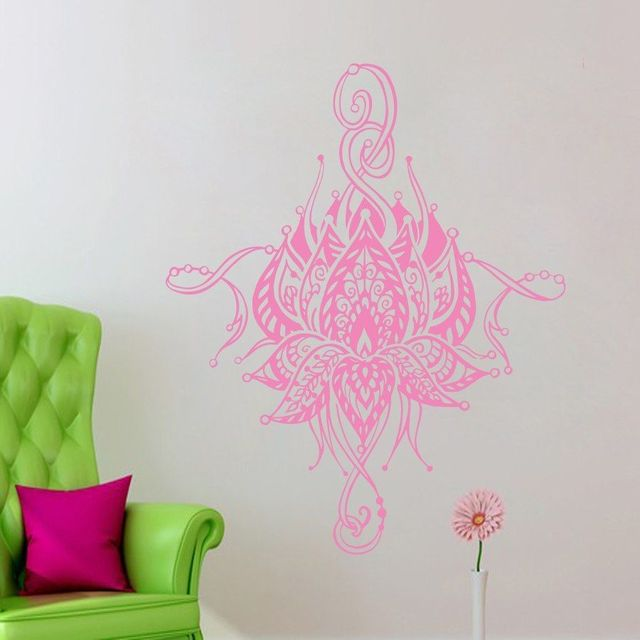 Mandala Lotus Wall Decal Living Room Waterproof Home Decoration ...