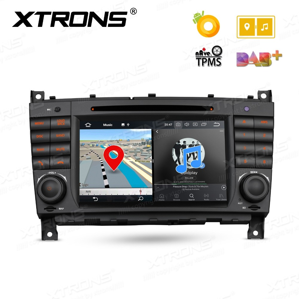 XTRONS 2 Din 7'' Octa Core Android 8.0 Car DVD Player GPS for Mercedes Benz W203 C180 C200 C220 C230 C240 C250 W209 2005-2006 image