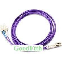Fiber Patch Cords Jumpers SC LC LC SC OM4 Duplex GoodFtth 1 15m 6pcs/lot