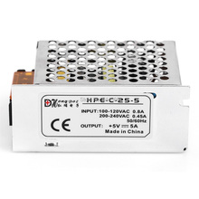 1PCS 5V 5A 25W Switching Power Supply Driver for LED Strip AC 100-240V Input to DC 5V